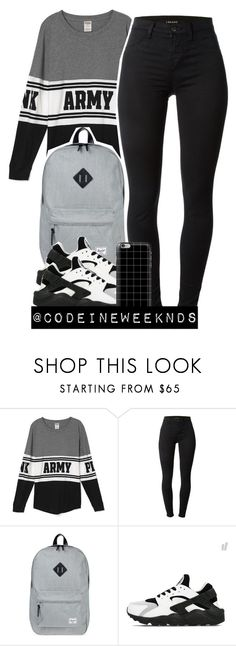 """10:5:15"" by codeineweeknds ❤ liked on Polyvore featuring J Brand, Herschel Supply Co., NIKE and Casetify"