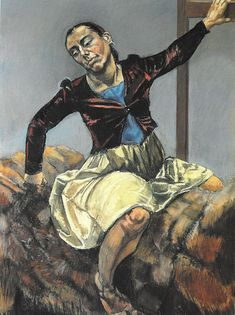 Paula Rego (Portugal 1935- England), Snow White on the Prince's Horse, pastel on paper mounted on aluminum, 1995. Private collection.