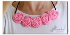 Image result for fabric flower necklace tutorial