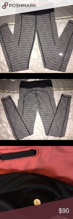 SOLD ON ♏️ Lululemon Speed Tight sz 4 Like new worn only once and hand washed. Lululemon speed tight size 4 in an adorable sold out color! With coral accent waistband $80 thorough 🅿️🅿️ or ♏️ercari lululemon athletica Pants Leggings