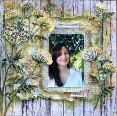Cherish - Kaisercraft DT with gorgeous new Botanica Collection. Baby Scrapbook, Scrapbook Pages, Wood Background, Scrapbooking Layouts, Paper Crafts, Gallery, Painting, Mixed Media, Lay Outs