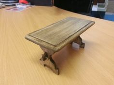 Hand made kitchen work table 1:12 scale