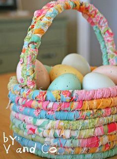 Easter Unicorn Felt Covered Baskets Unisex Easter Party Decoration Accessory