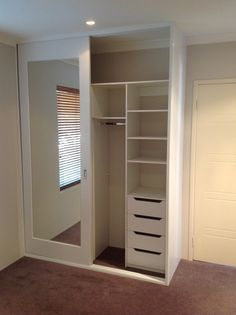 Best bedroom closet design built in wardrobe sliding doors Ideas Wardrobe Design Bedroom, Closet Bedroom, Closet Space, Diy Bedroom, Bedroom Small, Bedroom Furniture, Ikea Mirror, Wardrobe With Mirror, Bedroom Ideas