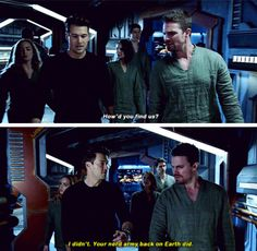 """""""How'd you find us?"""" - Oliver, Nate, Sara, Thea, John and Ray #Arrow"""
