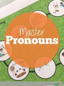 Teaching Pronouns in Speech plus a Free Resource! Lots of suggestions for targeting pronouns in your speech therapy room to support your students with language disorders or learning disabilities. Includes a free pack of pronoun game sheets. Teaching Pronouns, Articulation Activities, Speech Therapy Activities, Language Activities, Language Lessons, Phonics, Language Arts, Speech Therapy Games, Speech Language Pathology