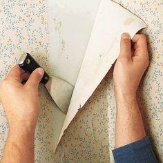 como tirar papel de parede com espátula passo a passo