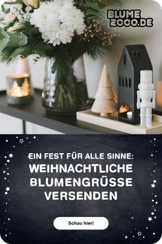 🎁🎄Cozy Christmas: Lass den Weihnachtszauber bei dir einziehen oder versende eine blumige Überraschung an deine Liebsten Christmas Mood, Decorating Ideas, Lettering, Wedding, Christmas Jewelry, Advent Season, Decorating, Christmas, Valentines Day Weddings