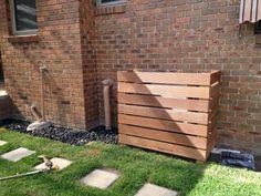 Merbau wood external heater cover