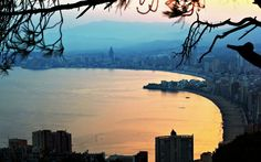 Benidorm Sunset, Spain. #travel-paradise divine, spain