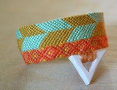 Porcelain Triangle Friendship Bracelet