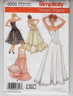 Corset Petticoat Underskirt Yoke Costumes Simplicity Sewing Pattern 5006 Sz 6-12