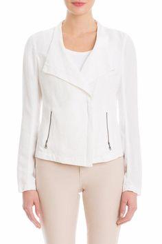 Lightweight linen jacket with asymmetrical zipper closure.   Linen Moto Jacket by Nic + Zoe. Clothing - Jackets, Coats & Blazers - Jackets Kentucky