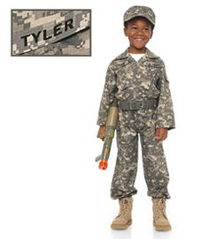 personalized desert army soldier boys costume these camouflaged army fatigues will have your little soldier calling left right left drills from house - Boys Army Halloween Costumes