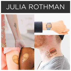 Adorably random objects by Julia Rothman . | 15 Incredible Artists Who Will Change Your Mind About Temporary Tattoos