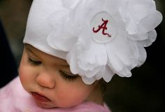 Alabama Team Flower Hats but it will have a notre dame outfit on