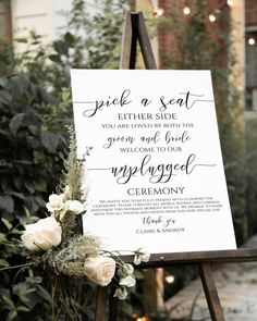 Wedding Ceremony Ideas, Wedding Signage, Church Ceremony Decor, Best Wedding Ideas, Church Wedding Decorations, Spring Wedding Inspiration, Wedding Seating, Wedding Events, Reception
