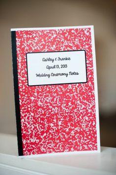 school notebook program dc wedding Kirsten Marie Photograpy Bright and Modern DIY Wedding Ceremony in DC: Ashley + Frankie Wedding Day Schedule, Wedding Planning, Event Planning, Wedding Stationery Inspiration, Wedding Inspiration, Wedding Ideas, Wedding Programs, Wedding Ceremony, Wedding Invitations
