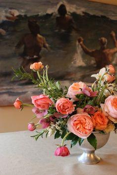 Elegant Garden Shabby Chic Spring Vintage Centerpiece Wedding Flowers Photos & Pictures - WeddingWire.com