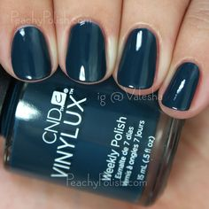 CND VINYLUX Couture Covet | Fall 2015 Contradictions Collection | Peachy Polish #blue