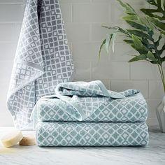 Coyuchi Diamond Jacquard Towel #westelm