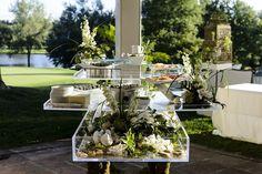 Verdant Seafood Station Photography: Chrisman Studios Read More: http://www.insideweddings.com/weddings/impressive-colorado-wedding-over-an-olympic-sized-pool/566/