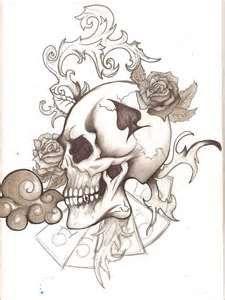 Skull Tattoo By Panda Odono Traditional Art Drawings Fantasy 2010 2013