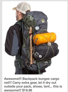 Backpack bungee cord for extra items?