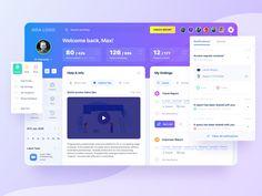 Dashboard Ui, Dashboard Design, Ui Design, Ui Inspiration, Graphic Design Inspiration, My Settings, Shared Folder, Admin Panel, Landing Page Design