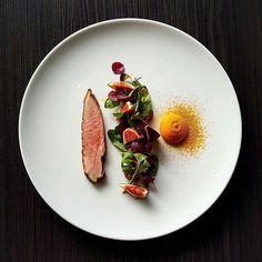#tbt Smoked Duck, Fig Salad, Caramelised Pumpkin Puree