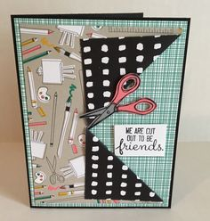 We are cut out to be friends! June 2017 Team Swap submitted by Carrie Todd Crafting Forever Stamp Set from Stampin' Up!