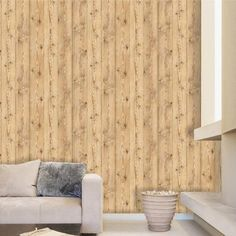 TOONILOVE Self Adhesive Wallpaper Removable Contact Paper Peel and Stick Wood Panel Effect DIY interior decorating TLHWN045 Size164 ft x 984 ft * You can find more details by visiting the image link.