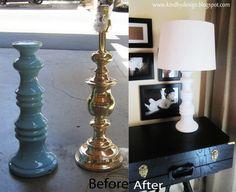 Kind By Design: DIY: Goodwill Lamps  www.kindbydesign.blogspot.com #home decor #lamps #DIY