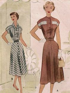 1950s McCall 8407 Vintage Sewing Pattern Misses' by midvalecottage, $14.00