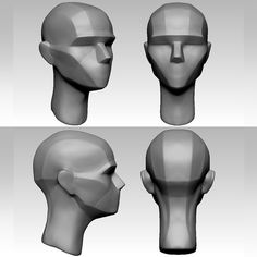 Head Anatomy, Body Anatomy, Anatomy Drawing, Anatomy Art, Planes Of The Face, Anatomy Sculpture, Sculpting Tutorials, Body Study, Zbrush Tutorial
