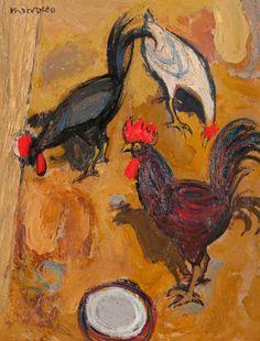 Alberto Morrocco - Three Hens