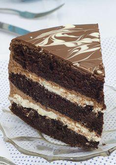 Perfect chocolate pleasure - Tuxedo Cake by OMG Chocolate Desserts