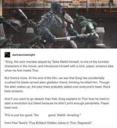 Korg's jokes had a lot more depth than you think