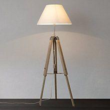 Buy John Lewis Bembridge Wood Tripod Floor Lamp Online at johnlewis.com