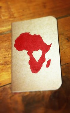 Heart of Africa Pocket Notebook 100 of profits by pioneerworks, $10.00