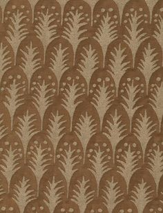 Piumette in warm french brown & gold #fortuny: http://fortuny.com/Fabrics.aspx#d5acaea7-ef89-4d68-9bfb-fdf85ece29f9  Follow Fortuny on Pinterest! pinterest.com/fortuny