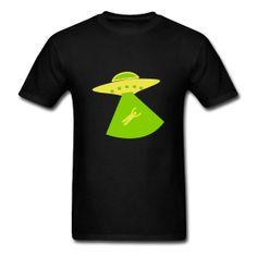 UFO Alien Kidnapping T-Shirt #Tshirt #UFOabduction #abduction #ufo Classic-cut standard weight t-shirt for men, 100% pre-shrunk cotton, Brand: Gildan