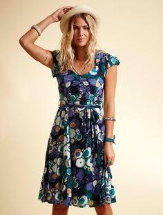 The VA27 Valentina Sweetheart Dress shown on location in Blue xx