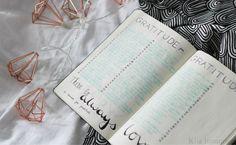 gratitude diary in my bullet journal