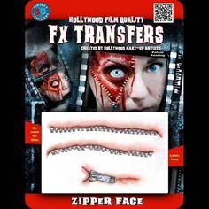 Zipper Face - 3D FX Transfers