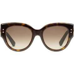 Gucci Cat Eye Acetate Sunglasses (£259) ❤ liked on Polyvore featuring accessories, eyewear, sunglasses, women, red glasses, wide sunglasses, red cat eye sunglasses, green sunglasses and tortoise shell cat eye sunglasses