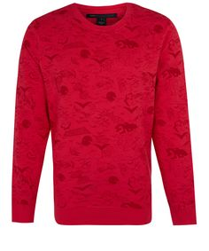 Marc by Marc Jacobs Red Doodle Sweatshirt