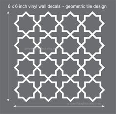 Wall Decal set of 12 geometric pattern - moroccan trellis design. $45.00, via Etsy.