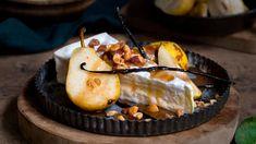 Brie med stekte pærer