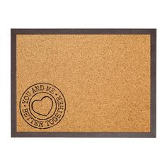 Cork Pinboard with Print. Cork Boards, Better Together, You And I, I Am Awesome, Design, You And Me, Cork Panels